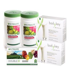 Nutrilite DOUBLE X REFILL [1x] + Nutrilite Protein Drink Mix Protein Mixed Berry/Green Tea/Chocolate/All Plant [2x] + Bodykey by Nutrilite Meal Replacement Shake Vanilla/Chocolate/Cafe [2x]